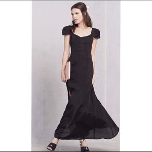 Reformation Navy Blue Barrymore Maxi Dress